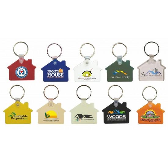 Custom Logo Full Color House Soft Key Fob