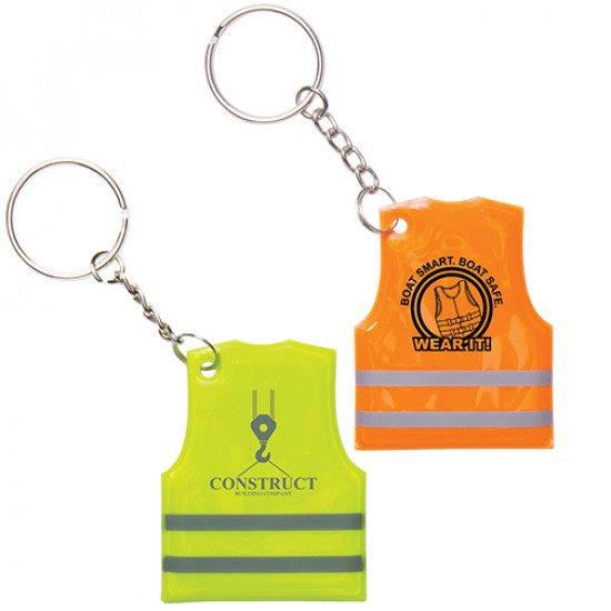 Custom Reflective Safety Vest Keychain with Your Logo