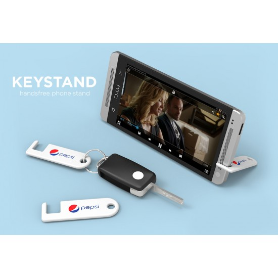 Full Color Universal Cellphone Stand Keychain with Your Logo