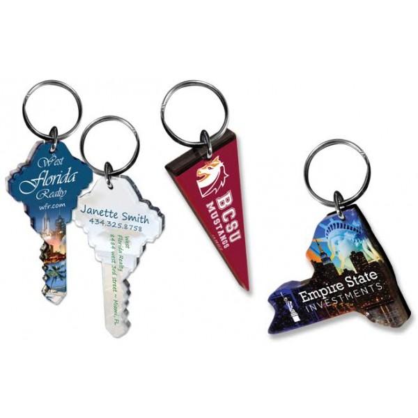 Full Color Custom Shape Acrylic Key Chain with Your Logo