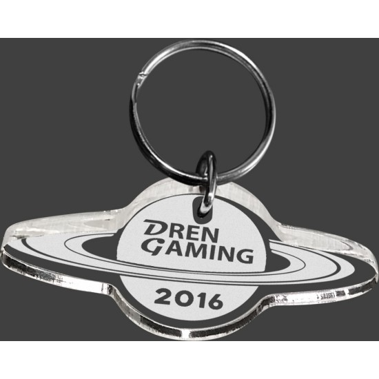 Custom Shape Acrylic Key Ring Etched with Your Logo