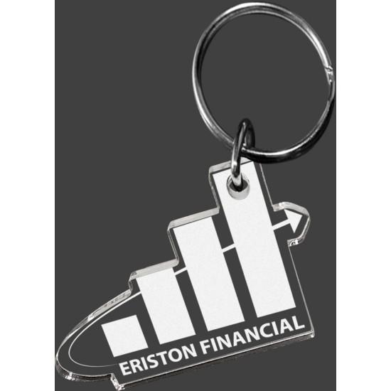 Custom Shape Acrylic Key Ring Etched with Your Logo