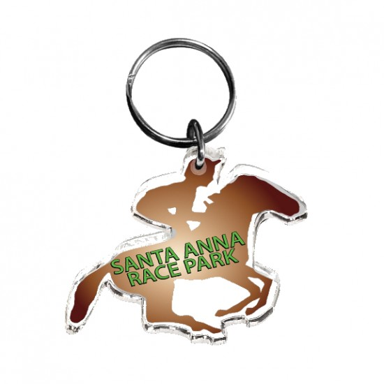 Ultra Vivid Color Acrylic Key Chains with Your Logo