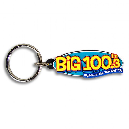 Custom Shape PVC Key Tag with 2-D Molded Imprint with Your Logo