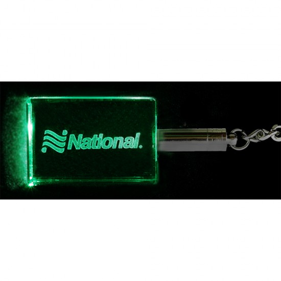 Crystal Light Up Keytag Laser Etched with Your Logo