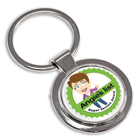 Full Color Circular Key Tag with Your Logo