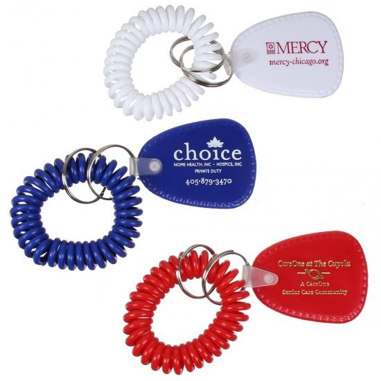 Custom Logo Coil Keychain Bracelet