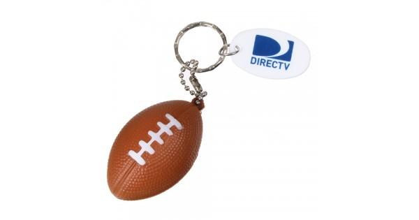 Custom Logo Football Key Chain Plastic With Nylon Lacing