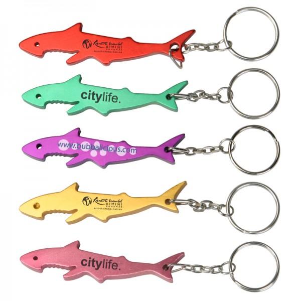 Custom Logo Shark Shape Bottle Opener With Key Ring