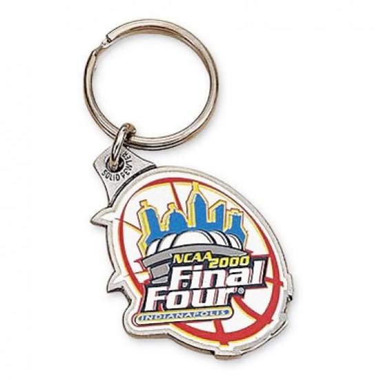 Custom Logo Custom Solid Pewter 2D Keychain