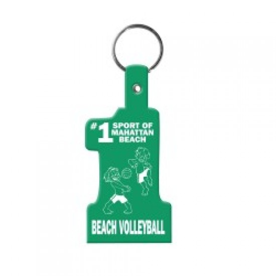 Custom Logo Number Shape - Soft flexible key tag