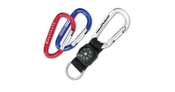 Custom Logo 6 Cm Mini Carabiner W Compass