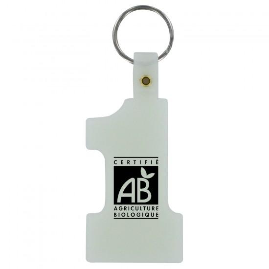 Custom Logo Number 1 Tag Keychain