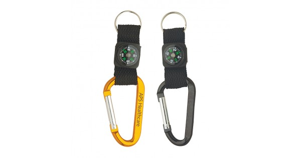 Custom Logo Anodized Aluminum Carabiner W Strap Amp Compass